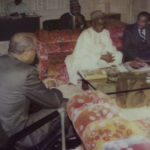 Bob consulting with President Shagari