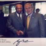 Bob with President George W Bush