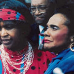 Martin Luther King III, Mrs. Winnie Mandela, Bob Brown and Mrs. Coretta King at their first meeting in South Africa (1986) arranged by Bob Brown